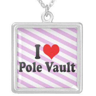 I love Pole Vault Custom Necklace