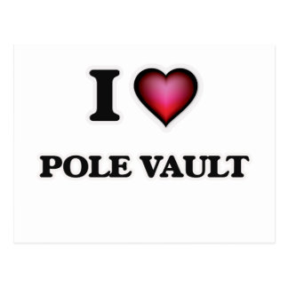 I Love Pole Vault Postcard