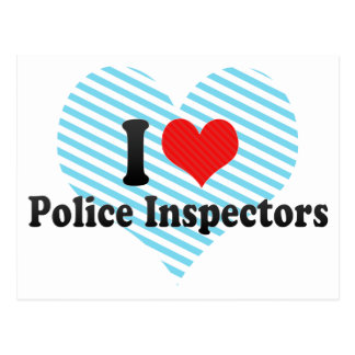I Love Police Inspectors Postcard