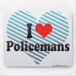 I Love Policemans Mouse Pad