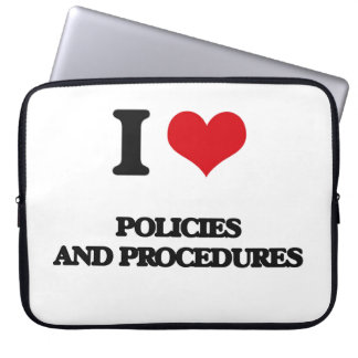I Love Policies And Procedures Laptop Sleeve