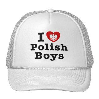 I Love Polish Boys Trucker Hat