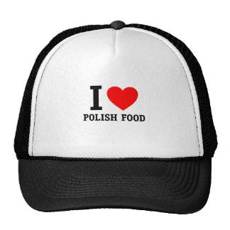 I Love Polish Food Trucker Hat
