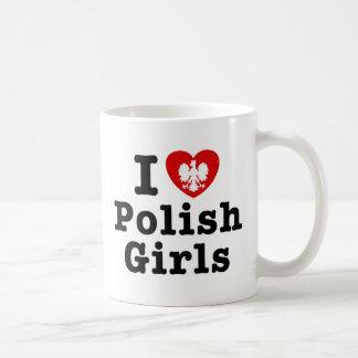 I Love Polish Girls Classic White Coffee Mug