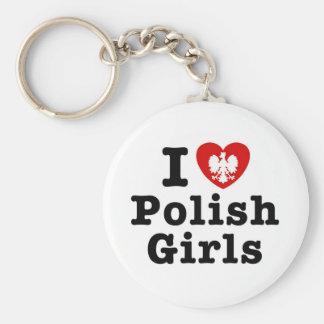 I Love Polish Girls Keychain