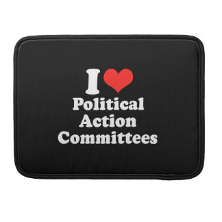 I LOVE POLITICAL ACTION COM.png MacBook Pro Sleeves