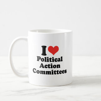 I LOVE POLITICAL ACTION COMMITTEES - .png Classic White Coffee Mug
