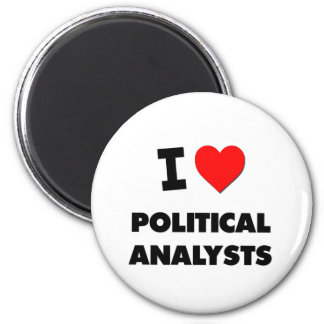 I Love Political Analysts 2 Inch Round Magnet