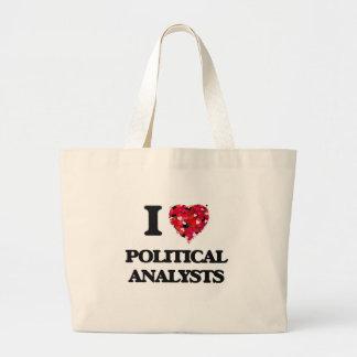 I love Political Analysts Jumbo Tote Bag