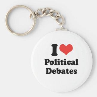 I LOVE POLITICAL DEBATES - .png Basic Round Button Keychain