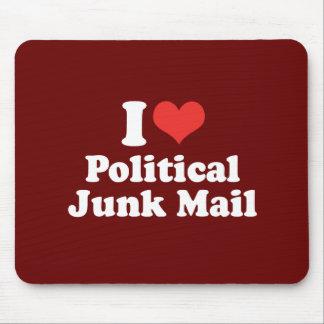 I LOVE POLITICAL JUNK MAIL - .png Mousepads