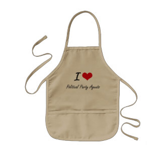 I love Political Party Agents Kids' Apron