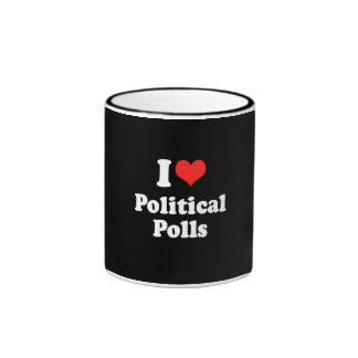 I LOVE POLITICAL POLLS.png Ringer Coffee Mug