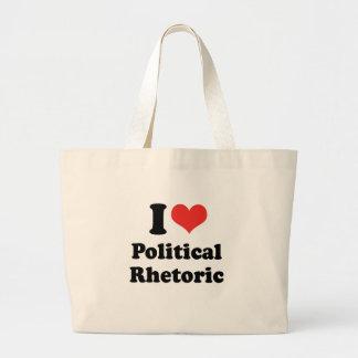 I LOVE POLITICAL RHETORIC - .png Bag