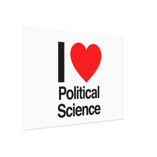 i love political science gallery wrapped canvas