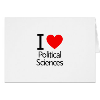 I Love Political Science Greeting Card