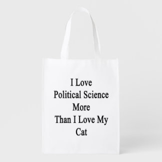 I Love Political Science More Than I Love My Cat Grocery Bag