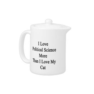 I Love Political Science More Than I Love My Cat Teapot