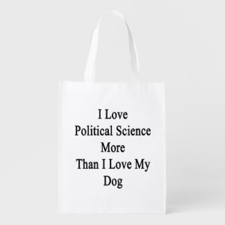 I Love Political Science More Than I Love My Dog Grocery Bag