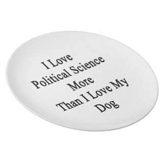 I Love Political Science More Than I Love My Dog Plate