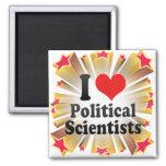 I Love Political Scientists Magnet