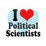 I Love Political Scientists Postcard