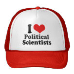 I Love Political Scientists Trucker Hat
