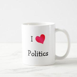 I Love Politics Classic White Coffee Mug