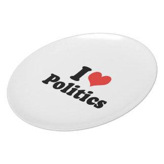 I LOVE POLITICS - .png Party Plates