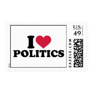 I love Politics Postage Stamp
