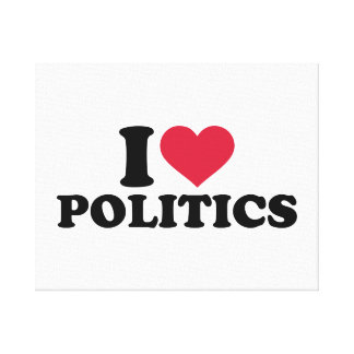 I love Politics Stretched Canvas Print