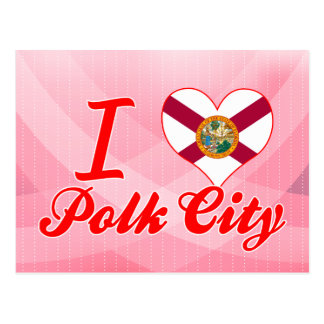 I Love Polk City Florida Post Card