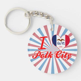 I Love Polk City, Iowa Acrylic Keychains