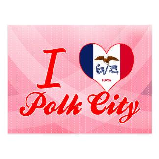 I Love Polk City Iowa Postcard