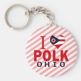I love Polk, Ohio Key Chains