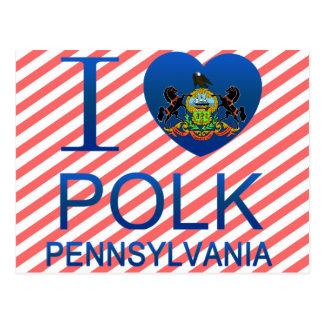 I Love Polk PA Post Cards
