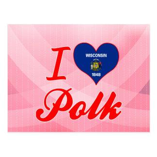 I Love Polk Wisconsin Post Card