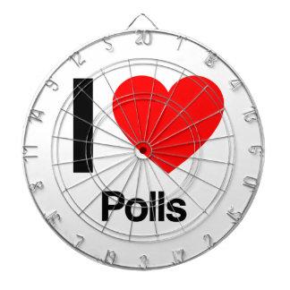 i love polls dart board