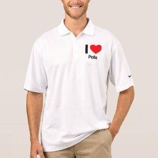 i love polls polo t-shirts
