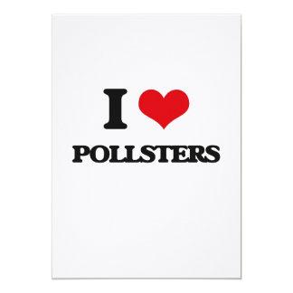 "I Love Pollsters 5"" X 7"" Invitation Card"