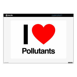 i love pollutants laptop decal