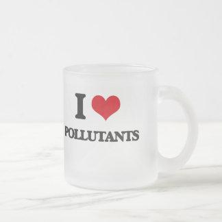 I Love Pollutants Frosted Glass Mug