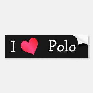 I Love Polo Bumper Sticker