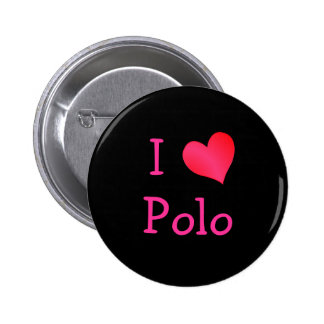 I Love Polo Pinback Buttons