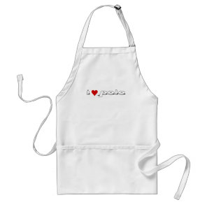I love polo I heart rice Adult Apron