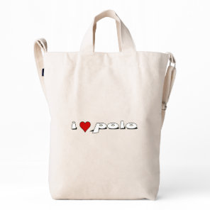 I love polo I heart rice Duck Bag