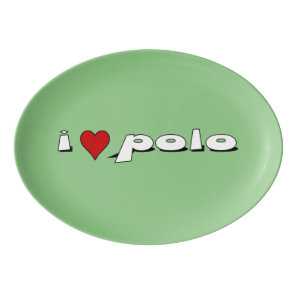 I love polo I heart rice Porcelain Serving Platter