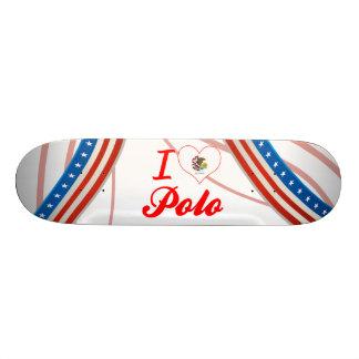 I Love Polo, Illinois Skateboard