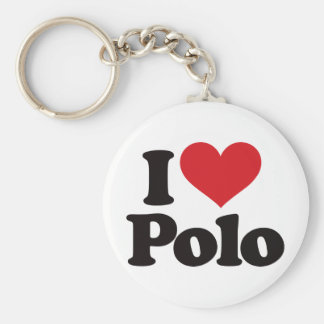 I Love Polo Keychain