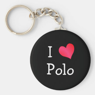 I Love Polo Key Chain